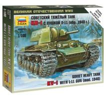 Zvezda 6141 - 1:100 Soviet Heavy Tank KV-1