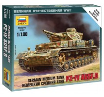 Zvezda 6151 - 1:100 German Panzer IV Ausf D