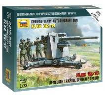 Zvezda 6158 - German Heavy Anti-Aircraft Gun 8.8 cm FLAK 36/37 1:72