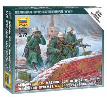Zvezda 6210 - German Machine-gun w/Crew (Winter Uniform) 1:72