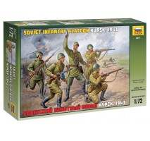 Zvezda 8077 - Soviet Infantry WWII 1:72